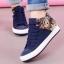 รองเท้าผ้าใบพื้นหยักแฟชั่นประดับรูปหมี thumbnail 3