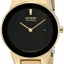 นาฬิกาผู้หญิง Citizen รุ่น GA1052-55E, Eco-Drive Axiom Black Gold Tone 30m Elegant thumbnail 1