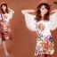 ((พร้อมส่ง)) เสื้อผ้าแฟชั่นผู้หญิง : เสื้อแฟชั่นสีขาว แต่งลายดอกไม้ ปักเลื่อมสีสดใส แขนผ้าโปร่ง ใส่เป็นเดรสได้ น่ารักมากๆจ้า thumbnail 1