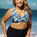 ชุดว่ายน้ำคนอ้วน พร้อมส่ง :ชุดว่ายน้ำทูพีชสีฟ้าแต่งลายสีสันสดใสแบบเก๋ sexy มากๆจ้า:รอบอก40-46นิ้ว เอว34-42นิ้ว สะโพก38-46นิ้วจ้า