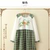 ชุดคลุมท้อง แขนยาว แฟชั่นญี่ปุ่น ลายสก๊อตเขียว น่ารักมากค่ะ Free Size