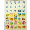 ของเล่นไม้ สอนภาษาไทย พยัญชนะ ก-ฮ สระ จับคู่กับรูปภาพ ทั้งหมด 105 ชิ้น