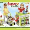 Supermarket+แคชเชียร์+รถเข็นช๊อปปิ้ง สีเขียว