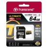 Transcend microSDXC/SDHC Class 10 UHS-I U3 633x 64GB For (Blackvue ,Thinkware , Gnet, Transcend , Macus)