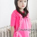 เสื้อแฟชั่นแขนสามส่วนเด็กหญิง มาใหม่สไตล์เกาหลี