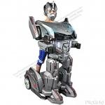 หุ่นยนต์บังคับ2ระบบ มีหน้ากากใส่หน้า (กดบังคับเอง, รีโมทบังคับ, หมุนได้360°, มีเสียงหุ่นยนต์และเพลง, มีไฟ) ของแนวใหม่ พื้นที่แคบๆก็เล่นได้