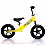"""จักรยานหัดทรงตัว12"""" (ใช้ขาไถดันพื้น, ล้อยางตัน, น้ำหนักเบา, แฮนด์และเบาะปรับขึ้นลงได้)"""