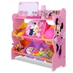ชั้นวางของ ที่เก็บของเล่นเด็ก มินนี่ เมาส์ Minnie Mouse Keeping Toys สีชมพู
