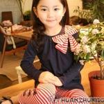 ชุดเซ็ทเด็กหญิง เสื้อ+กางเกง สไตล์เกาหลีผ้า cotton น่ารักมาก