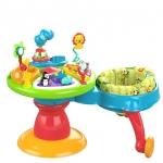 โต๊ะกิจกรรมพร้อมเก้าอี้หัดเดิน Bright starts Around we go รุ่น Zippity Zoo 3 in 1