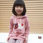 ชุดเซ็ทเสื้อมีฮูท+กางเกง ลายแมวเหมียว มาใหม่สไตล์เกาหลี