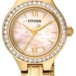 นาฬิกาผู้หญิง Citizen รุ่น EJ6093-55D, Quartz Elegant Dress Gold Watch