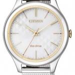 นาฬิกาผู้หญิง Citizen Eco-Drive รุ่น EM0504-81A, Elegant Mesh Bracelet