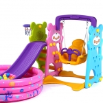Mini Playground Set หมีแพนด้าสไลเดอร์ 3 อิน 1 ราคาถูก