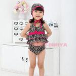ชุดว่ายน้ำ + หมวก มาใหม่ สไตล์เกาหลี น่ารัก