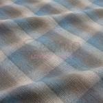 ผ้าทอแบบที่ 5 สีน้ำตาลฟ้า