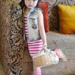 ชุดเดรสเด็กหญิง+ผ้าคาดผม มาใหม่สไตล์เกาหลี