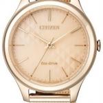 นาฬิกาผู้หญิง Citizen Eco-Drive รุ่น EM0503-83X, Elegant Mesh Bracelet