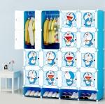 ตู้เก็บของ ตู้เสื้อผ้าเด็ก DIY ลายโดราเอม่อน Doraemon