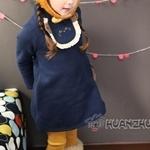 ชุดเดรสกระโปรงเด็กหญิง สไตล์เกาหลีน่ารักมากๆ มีไซส์ 110/120/130/140