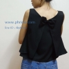 เสื้อให้นม Phrimz : Belle breastfeeding top - Midnight สีดำ