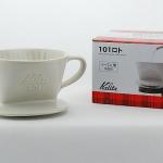 Kalita ถ้วยกาแฟดริป รุ่น 101 Ceramic Dripper White ขนาด 1-2 cups (สีขาว)