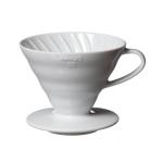 Hario V60 Dripper VDC-02 Ceramic ขนาด 1-4 cup (สีขาว)