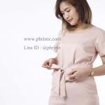 ชุดให้นม Phrimz : รุ่น Jazzi Breastfeeding Jumpsuit - Nude สีนู้ด
