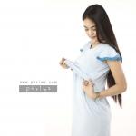 ชุดให้นม Phrimz : Marble Breastfeeding Dress - Blue สีฟ้า