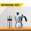 Bialetti Brikka 2 cups & Captain stag set