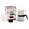 Kalita Drip Set 101 ชุดกาแฟดริปเซ็ต(ถ้วยกรองเซรามิค+glass coffee server+แผ่นกรอง)