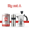 Bialetti Brikka 2 cups & Captain stag & illy coffee beans set