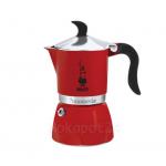 Bialetti หม้อต้มกาแฟ moka pot ขนาด 3 Cup รุ่น Fiammetta Rossa