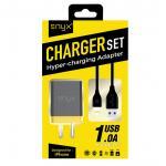 ENYX Charger set Adapter พร้อมสายชาร์จ iPhone สีดำ