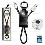 สายชาร์จพวงกุญแจ Remax RC-034M Western for Micro USB สีดำ