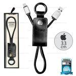 สายชาร์จพวงกุญแจ Remax RC-034i Western for iPhone สีดำ