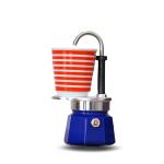 Bialetti หม้อต้ม กาแฟสด ชุด Set mini express สีฟ้า ขนาด 1 cup