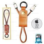 สายชาร์จพวงกุญแจ Remax RC-034i Western for iPhone สีน้ำตาล