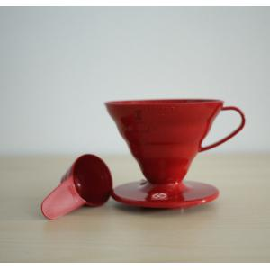 Hario V60 Dripper VD-02 พลาสติก ขนาด 1-4 Cups (สีแดง)