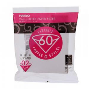 Hario V60 Coffee paper VCF-02-100W กระดาษกรอง สำหรับดริป ขนาด 02 (บรรจุ100 แผ่น)
