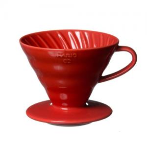 Hario V60 Dripper VDC-02 Ceramic ขนาด 1-4 Cups (สีแดง)