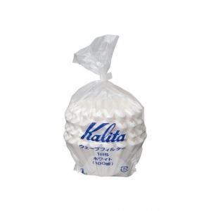 Kalita filter กระดาษกรองดริป รุ่น 185 dripper stainless steel 100 แผ่น สีขาว