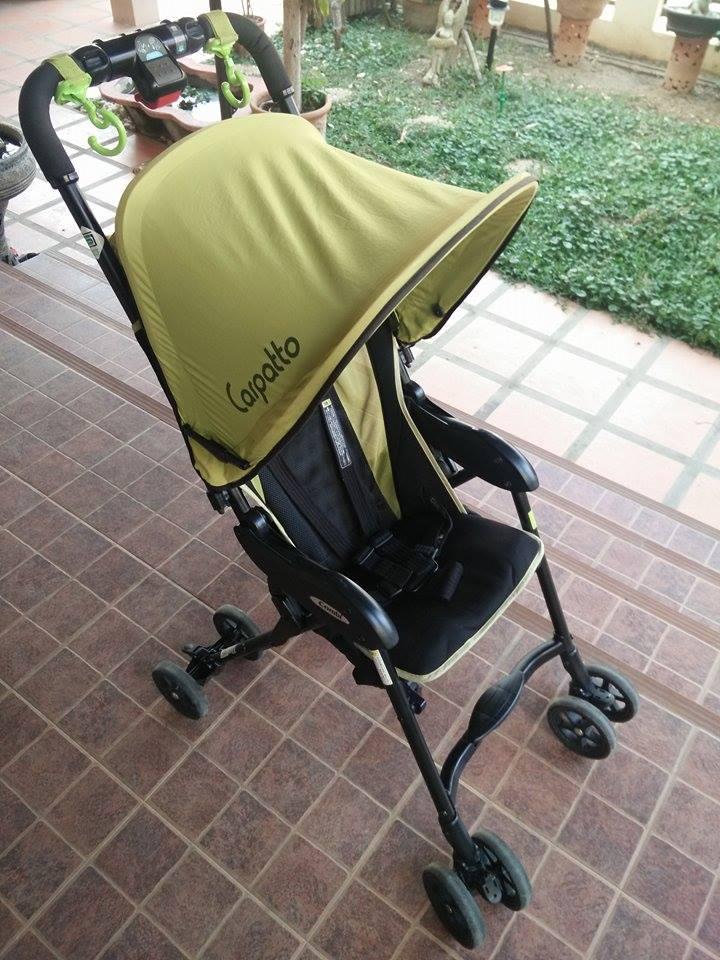รถเข็นเด็กมือสอง COMBI รุ่น CARPATTO สีเขียว-ดำ รหัสสินค้า : C0014