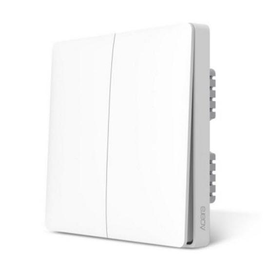 Xiaomi Aqara Wall Switch Zero Line Version (Two Button) - สวิทซ์ไฟบ้าน (สายศูนย์ 2 ปุ่ม)