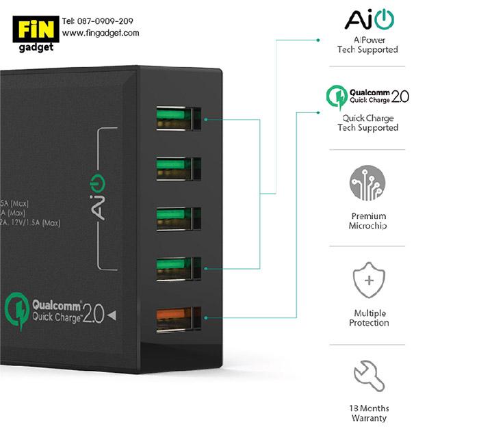 AUKEY PA-T1 5 Ports USB