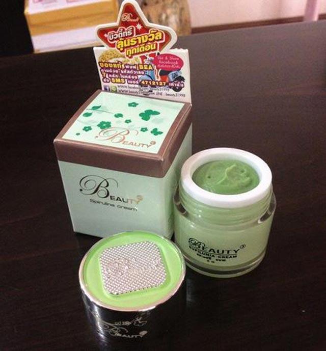 บิวตี้ทรี สไปรูลินาครีม Beauty3 Spirulina cream สาหร่าย 5g. ราคาถูก ส่งทั่วไทย