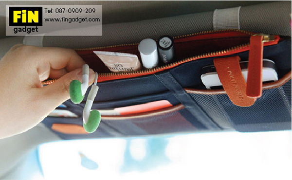 กระเป๋าเก็บของที่ช่องบังแดดในรถ