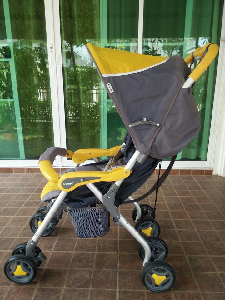 รถเข็นมือสองยี่ห้อ Combi รุ่น Do Kids 5 เหลือง-เทา รหัสสินค้า : C0025