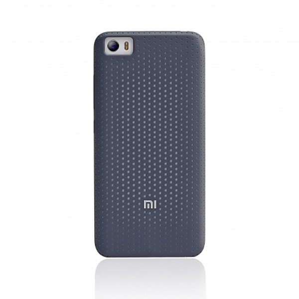 เคส Xiaomi Mi 5 Perforated Silicone Case - สีเทาดำ