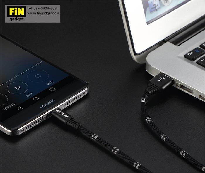 สายชาร์จ Joyroom Fabric Braided S-L316 Micro USB